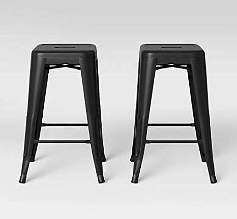 Magnificent Amazon Com Ace Bayou Carlisle 24 Inch Metal Counter Stool 2 Creativecarmelina Interior Chair Design Creativecarmelinacom