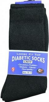 K&A Company Socks Diabetic Size Black Crew Mens Cotton 9-11 Case Pack 240