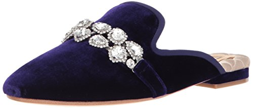 Badgley Mischka Women's Wade Slipper, Purple Velvet, 8 M US by Badgley Mischka