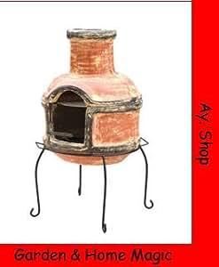 Azteca Horno Lima, Terraza Horno, chimenea de jardín, con función grill