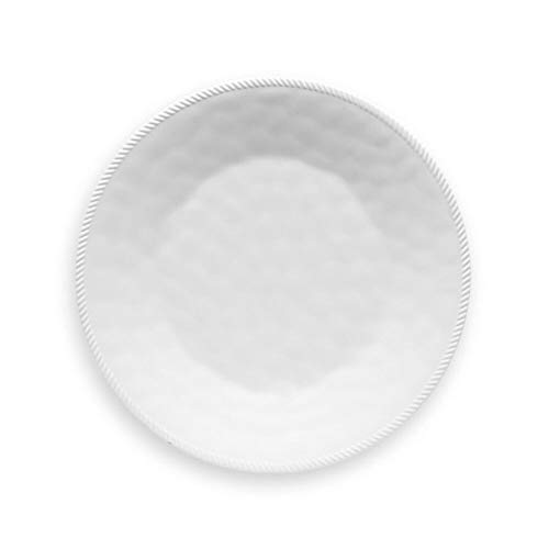 White BPA Free Melamine Casual Round Dinner Plate (Set of 6)