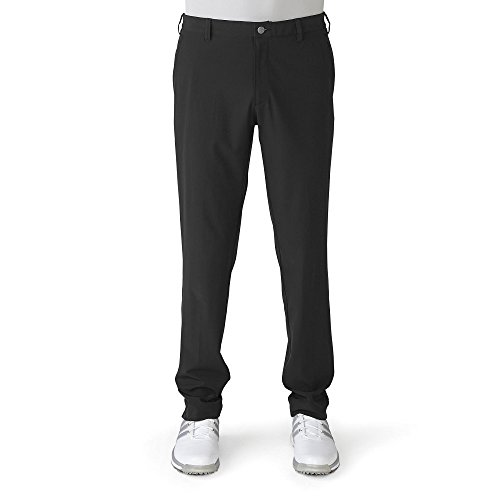 Adidas 2016 Ultimate Tapered-Fit Pants Water-Resistant Mens Golf Flat Front Trousers Black 32x34