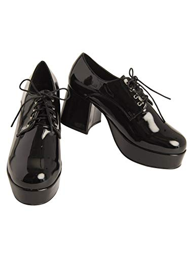 Mens Pimp Platform Black Shoes (10/11) ()