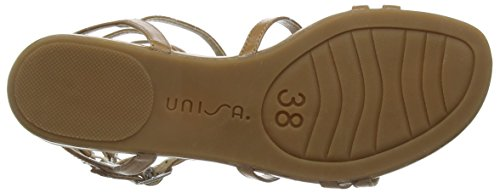 Unisa Angy - Sandalias de Gladiador Mujer Braun (Natural)