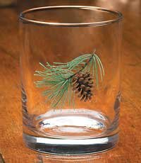 Pinecone Double Old Fashioned Glasses by Persis Clayton Weirs