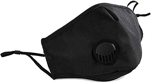 no-brand 1 Pcs Black Washable Reusable Cotton with 4 Pcs Activated Carbon Filter Unisex Mouth Protection from Dust Pollen Pet Dander