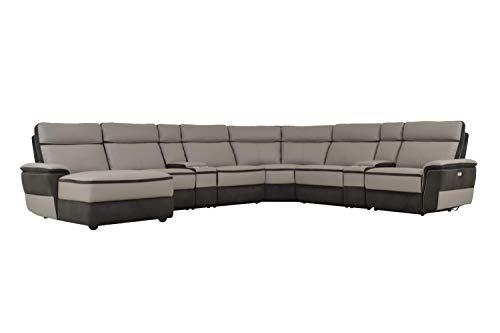 Pleasing Amazon Com Liberman 8Pc Power Sectional W Non Power Armless Bralicious Painted Fabric Chair Ideas Braliciousco