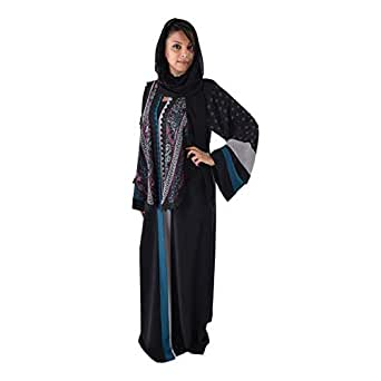 Yasmin Multi Color Casual Abaya For Women