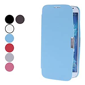 WQQ Solid Color PU Leather Full Body Case for Samsung Galaxy S4 I9500 (Assorted Colors) , Blue