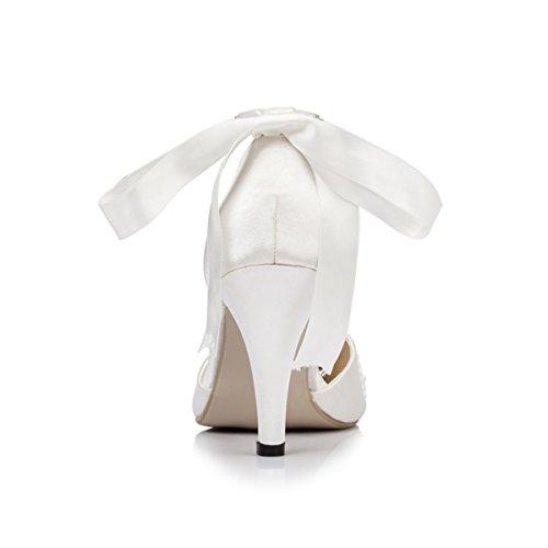 Sandales Compensées Miyoopark femme blanc Blanc 7HwRwqPxdO