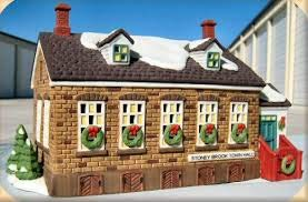 Dept 56 New England Village **Stoney Brook Town Hall** 56448 (England New 56 Dept)