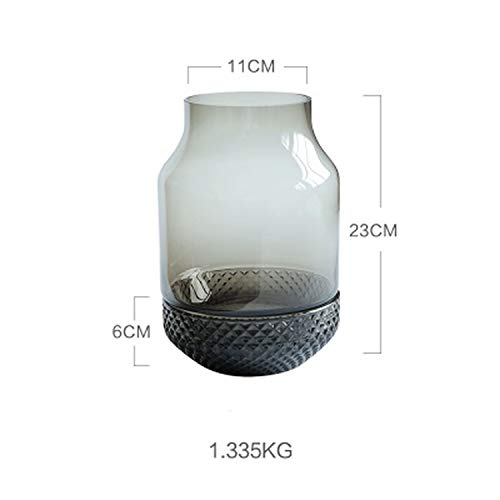 QianQianStore Nordic Wind Glass vase Ashtray Dual-use vase Inserted vase Plant Glass Bottle,a