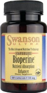 Swanson Ultra Bioperine Nutrient Absorption Enhancer 10 mg -- 2 Bottles each of 60 Capsules