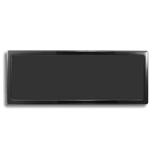 DEMCiflex Dust Filter for Caselabs 120.3 Flex-Bay Grill, Black Frame, Black Mesh by DEMCiflex