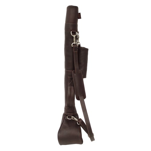 Piel Leather Driving Range Golf Caddy, Chocolate, One Size