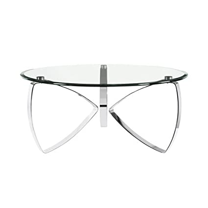 glass top cocktail table fancy glass magnussen home furnishings nico modern chrome round glass top cocktail table amazoncom