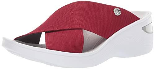 BZees Women's Desire Sandal, Scarlet Stretch Fabric, 12 M US ()