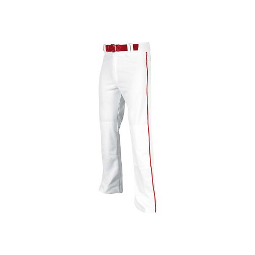Pro Plus Pant - Champro Men's Sports Pro-Plus Open Bottom Pants with Piping, White/Red Pipe, 4X-Large