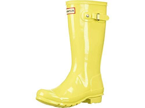 Hunter Kids Unisex Original Kids' Gloss Rain Boot (Little Kid/Big Kid) Wader Yellow 3 M US Little Kid