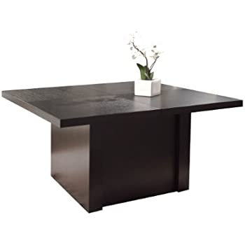 Amazon.com: Elite – Mesa de comedor con inserto de vidrio ...