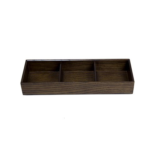 RECTANGULAR 3 DIVIDED WOODEN BENTO BOX by tabletop king