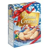 Keebler Almond Crescents Cookies 11 Ounces (Pack of 4)