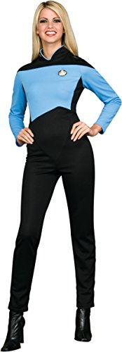 Rubie's Women's Star Trek The Next Generation Deluxe Science Uniform Jumpsuit, Blue, Extra Large