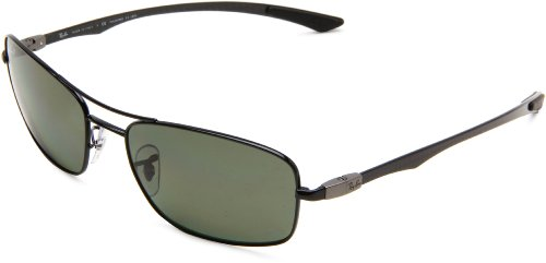 Ray-Ban RB8309 002/9A - BLACK Frame GREEN Lenses 59mm - Made In China Sunglasses Ray Ban