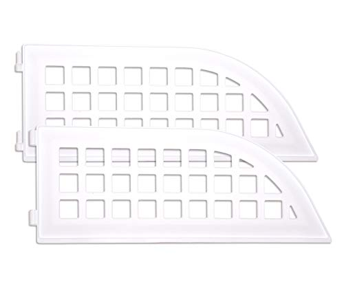 Haus Maus - Laundry Guard 2-Piece Add-on Extension Kit - Keep Laundry from Falling Behind Your Washer/Dryer - Magnetic - Fits Most Front Load Washing Machines