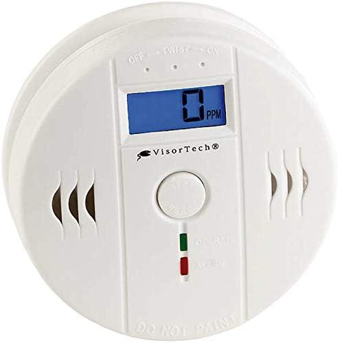 Bildschirm HT-501,Wiederaufladbar CO2-Analysator-Monitor CO2 Melder mit Digitalanzeige LED Gro/ßer digitaler Kohlendioxid-Detektor mit Temperatur