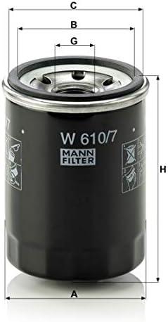 Original Mann Filter Ölfilter W 610 7 Für Pkw Auto