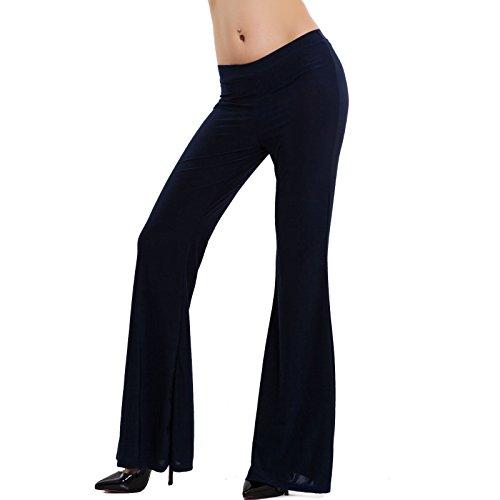 a animalier fantasia zampa Blu Scuro Toocool VB 1021 Pantaloni eleganti elefante donna campana 7YnPnIxEw