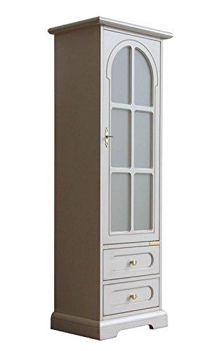 Vetrina bianca 1 porta 2 cassetti, Mobile vetrina salva spazio ...