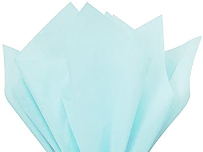 "Light Blue Tissue Paper 15"" X 20"" - 100 Sheet Pack"