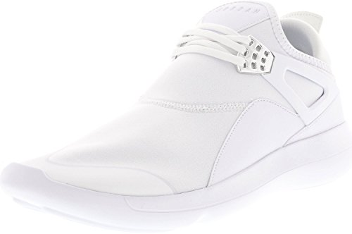 Jordan Mens Fly 89 Fashion Sneakers (White/White-White-Chrome, 10.5 D(M) US)