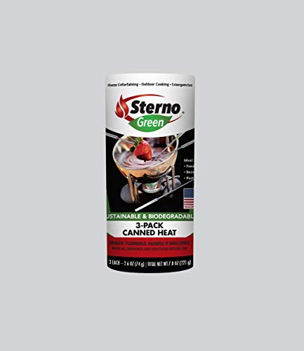 Sterno 20602 Entertainment Cooking Fuel, 3-Pack Canned Heat 2.6 oz.