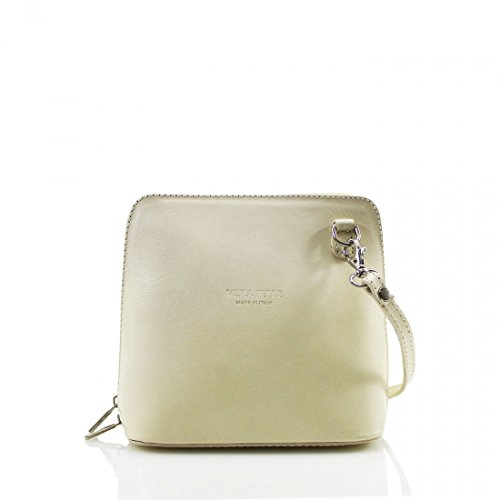 Pelle Work Cross Bag Shoulder Ladies Genuine Vera Leather Body Womens Beige Small Evening Square HfgwTq