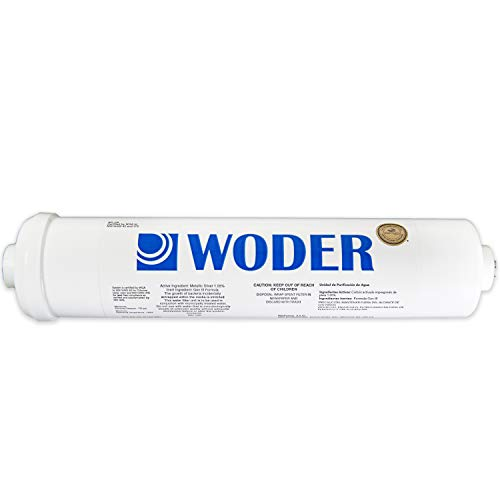 Woder WD-4K with JG-1/4 Ultra High Capacity Refrigerator Water Filter/Ice Maker Filter - WQA Certified - 3Y / 4K Gals - USA Made - With 1/4