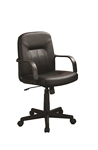 Coaster Home Furnishings 800049 Contemporary Office Chair, Black/Black