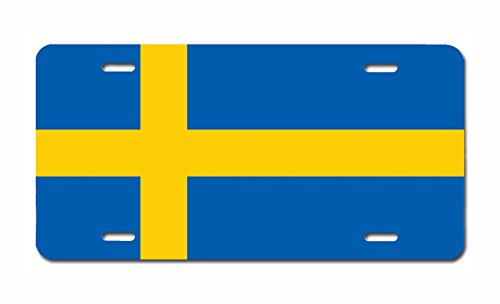 Carpe Diem Designs Sweden Flag License Plate, Made, used for sale  Delivered anywhere in USA