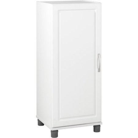 16'' Stackable Storage Cabinet, White, Raised Panel Door Front adds Style to This Functional Item, Concealed 6-way Euro Hinges on the Door Create a Finished Look by GAShop (Image #2)