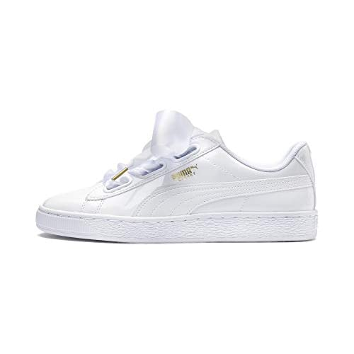 chollos oferta descuentos barato PUMA Basket Heart Patent Wn S Zapatillas Mujer Blanco White White 38 5 EU