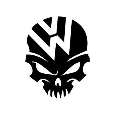 vw skull volkswagen jetta gti beetle ghia golf window sticker vinyl decal buy   uae