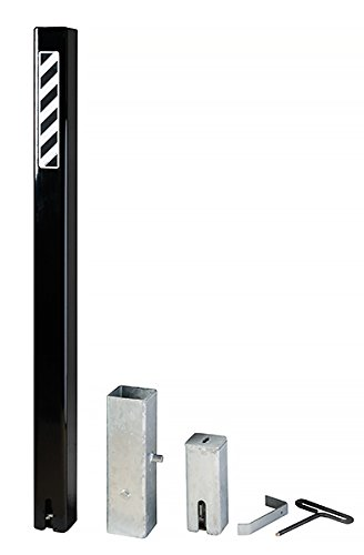 (Bollard Warehouse Helix Lock Square Post (US Patent 8,297,873) Removable Steel Security Bollard - Black )