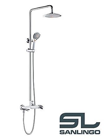 Einzigartig Duschset Duschsystem Komplett Dusche Badewanne Armatur Chrom Weiß  AO26