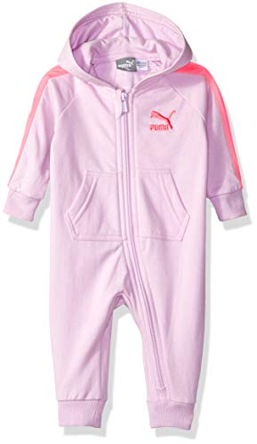 (PUMA Girls Baby Fleece Coverall, 6-9M)