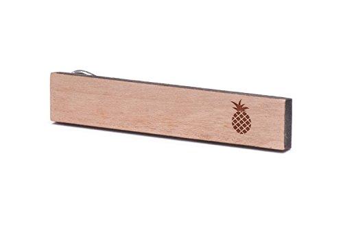 Bar Pineapple - Pineapple Tie Clip, Wooden Tie Bar