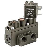 ARO A212SS-120-A 4-Way 2-Position Solenoid Valve, 120V 1/4 NPT by ARO