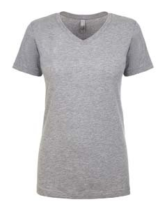 Next Level Lightweight The Ideal V-Neck T-Shirt, Large, Heather Gray Womens V-neck Heather