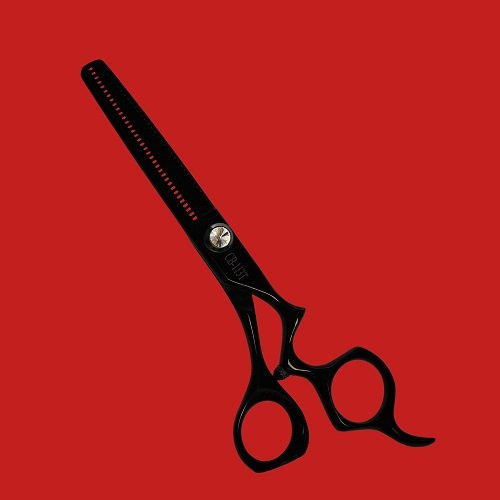 "Kashi CB-113T Cobalt Steel Black 6"" Hair Thinning/Texturizing 30 Teeth Shears"